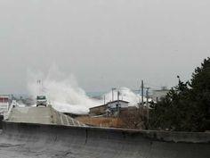 大津波 tsunami japan おいらせ町...I wonder what it says in the native writing.  My addition.  Be with God.