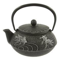 Iwachu Japanese Iron Teapot Tetsubin Silver and Black Goldfish Iwachu,http://www.amazon.com/dp/B003D3N38W/ref=cm_sw_r_pi_dp_nh9ytb0ZJEGPY2KW