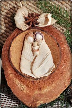 Kókuszdiós Betlehem, Dekoráció, Karácsonyi, adventi apróságok, Karácsonyi dekoráció, Meska