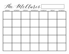*THIS LISTING IS FOR A DIGITAL FILE ONLY* Customizable Kraft style calendar printable. This is meant to be printed and put into a frame...you can