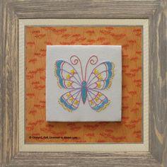 Stem Stitch Butterfly Pattern: Stem Stitch Butterfly