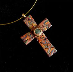 Rustic Mosaic Cross with Turquoise | Flickr - Photo Sharing!
