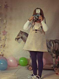 Cat Dress in Beige by Costumini - love!