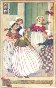 Anne Anderson. Play - The Rosie-Posie Book, 1911