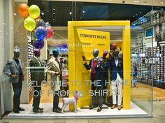 """CHARLES TYRWHITT, Westfield Stratford City, Stratford, UK, """"Welcome to the Home of Proper Shirts"""", pinned by Ton van der Veer"""