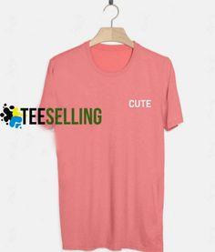 Cute Pink T-shirt Adult UNISEX Price: 15.50 #shirt Funny Shirt Sayings, Shirts With Sayings, Funny Shirts, Cute Graphic Tees, Graphic Shirts, Cute Pink, Workout Shirts, T Shirts For Women, Unisex