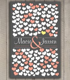 BRIDAL GIFT POSTER 151 Guest Sign In 20x30 by SugarVineArt