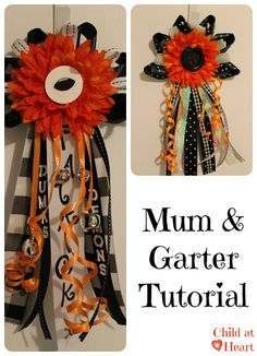 Homemade #Homecoming #Mum/Garter Tutorial, need to keep this one handy with one in high school and another one not so far behind...=)