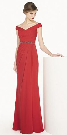 $126.49-V Neck Cap Sleeve Chiffon Long Red Evening Gown 2016. http://www.ucenterdress.com/v-neck-cap-sleeve-chiffon-long-prom-dress-with-beading-waist-pMK_301335.html.  Shop for affordable evening gowns, prom dresses, white dresses, party dresses for women, little black dresses, long dresses, casual dresses, designer dresses, occasion dresses, formal gowns, cocktail dresses . We have great 2016 Evening Gowns on sale now. #evening #gowns