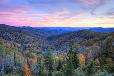 Sunrises in the Smoky Mountains are incredible.