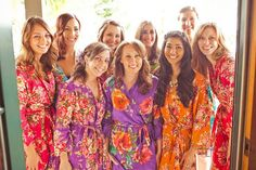 Real life Sample 5 - Bridesmaids Robes made From D7 Fabric Pattern