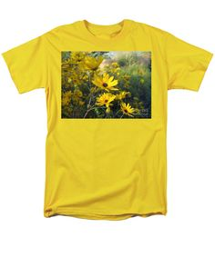 Yellow Lazy Susan T-Shirt featuring the photograph Wake Up Lazy Susan By Marilyn Nolan- Johnson by Marilyn Nolan-Johnson