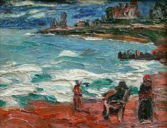 Benito Quinquela Martín, pintando Mar del Plata
