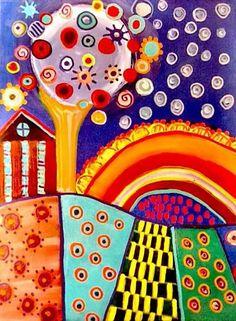 """Almost Modern Folk Art"" Golden Acrylic Colors wrap canvas Original Artwork by Graham Elvis Acrylic Colors, Artistic Photography, Types Of Art, Graham, Folk Art, Wrapped Canvas, Original Artwork, Sculptures, Watercolor"