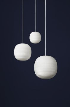 New Works Lantern pendant light, designed by Torbjørn Anderssen and Espen Voll, looks identical to traditional Scandinavian rice paper lights. However, the beautiful shade is made of frosted opal glass.