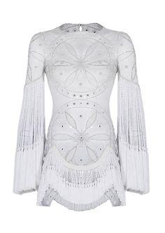 Raissa & Vanessa White Embroidered Mini Dress.