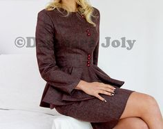 Women tailored suit two piece women outfit suit by JolyDagmara