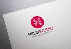 Helix Studio H Letter Logo ~ Logo Templates on Creative Market