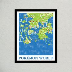 Zelda tingle tower typography print wind waker geek gift video pokemon world map print pokemon travel poster geek gift for gamer video game world map poster pokemon universe cool pokemon gift gumiabroncs Images