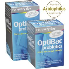 'For every day EXTRA Strength' from OptiBac Probiotics contains 20 billion live microorganisms per capsule, with 5 strains including the well-researched *L. acidophilus* NCFM®. This is suitable for [vegans](/resource-centre/faq/category-suitability/33-are-the-optibac-products-dairy-free-or-vegan.html