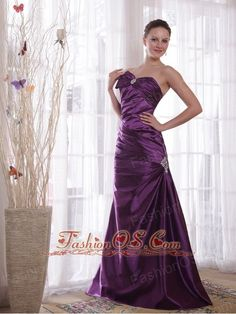 Purple Column Sweetheart Floor-length Taffeta Pleat Prom Dress- $129.59  www.fashionos.com  prom dress on sale | cheap prom dress under 150 | free shipping all over the world | online prom dress store | prom dress at discount | cheap prom dress around 150 | sweetheart beaded prom dress | prevalent prom dress | floor length prom dress with beading |