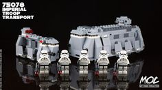 Opelouis's Toys Collection: (LEGO MOC) Star Wars Imperial Troop Transport. (ft. 75078 ITT) (updated)