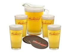 Unique Budweiser Collectibles | Budweiser 20 piece pitcher gift set - Online Fundraising Auction ...