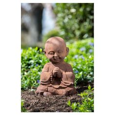 Find the perfect statues & sculpture for your garden or outdoor patio on Wayfair. Browse through a large selection of beautiful statues & sculptures! Baby Buddha, Little Buddha, Meditation Garden, Easy Meditation, Yoga Garden, Sitting Buddha, Art Asiatique, Garden Statues, Outdoor Statues