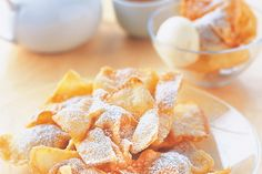 Pear wontons with ice-cream main image
