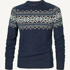 Snowflake Pattern Crew Jumper at Fat Face Boys Sweaters, Winter Sweaters, Mens Fashion Sweaters, Men Sweater, Moda Casual, Christmas Jumpers, Fair Isle Knitting, Fat Face, Warm Outfits