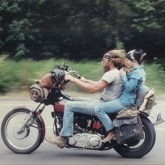 With My Sweetie on Knucklehead Chopper 1984 - Imgur