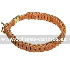 """#Collar #canino en cuero trenzado """"Trenza francesa""""-> 26,00 € @fordogtrainers.es No dejes de pulsar """"me gusta"""""""