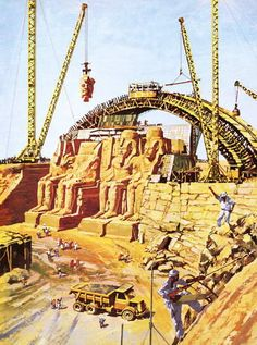 Relocation of the Abu Simbel temples Moving the figures. Egyptian Pharaohs, Ancient Egyptian Art, Heroic Age, Egypt Museum, Ancient World History, Old Egypt, Valley Of The Kings, Pyramids Of Giza, Egypt Travel