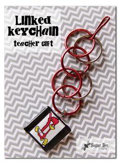 Linked Keychain Teacher Gift