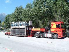 Sondertransport Schwertransport mit Tiefbett-Sattelauflieger durch Europa mit www.rachbauer.at Salzburg