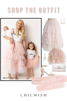 Date Outfits, Skirt Outfits, Fashion Outfits, Barbie Mode, Love Me More, Models, Mommy And Me, Marie, Tulle