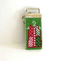Needlepoint Key Fob with Shift Dress