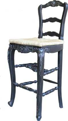 New French Country Counter Stools with Rush Seats