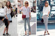 Camisas y camisetas blancas, un must en el armario