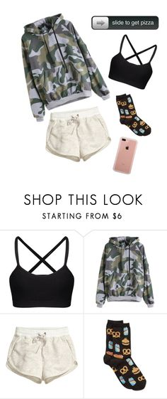 """""""Don't feel like dealing with people"""" by char-pisces ❤ liked on Polyvore featuring H&M, HOT SOX and Belkin"""