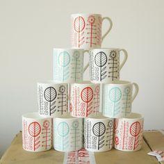 bloomsbury  bone china mug in black by summersville on Etsy, £6.00