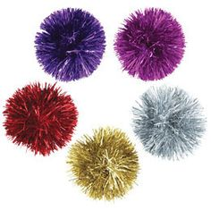Self-Adhesive Mylar Pom Pom by The Container Store.