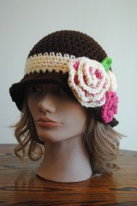 Free Spring Crochet Pattern  Red Heart Spring Blossom Cloche