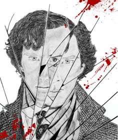 "Waaat? This is gorgeous! 15 Incredible Pieces Of ""Sherlock"" Fan Art - I remember cry drew something like this once with a friend's carrie."