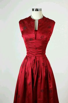 Oriental inspired 50's party dress