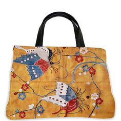Art Needlepoint Butterfly Weekender Bag Needlepoint Kit from the Art Needlepoint Company $225.00