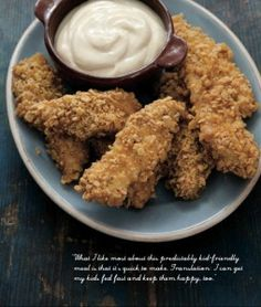 Gluten Free Oven-Fried Frito Chicken Fingers with Honey-Mustard Dip