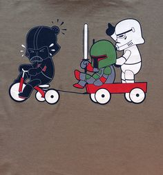 Vader, Boba Fett, and Trooper as Children via Tribe of E. Click on the image to see more!