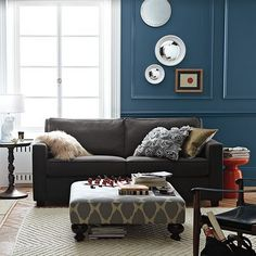great colors & pattern for reupholstering sofa & ottoman
