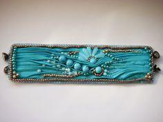 shibori silk bracelet